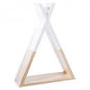 white tipi shelf, white