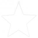 estrella en forma de estrella 40, blanco