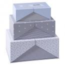 Überraschung Karton x3 grau, grau