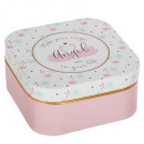 foil mirror box, pink