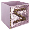 sequin do / do storage bin, pink
