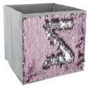 storage bin sequin ar / ro, silver