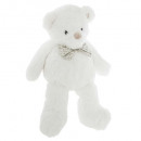 plush teddy bear white, white