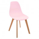 pink single polypropylene chair, pink