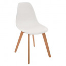 white polypropylene chair, white