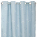blackout curtain glow dino 140x250, blue