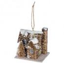 decoración navideña plf casa madera + cubo de niev