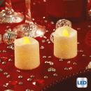 Votiv LED Kerze Glitzer minx2 blan
