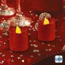 gyertya led votive glitter minx2 rge