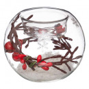 candle holder glass decorated ball candle cp, 6-fo