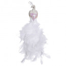 christmas decoration peacock feather pliers white