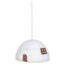 decorazione natalizia igloo paglia di neve