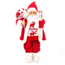 decoracion santa claus de pie tradi 45cm