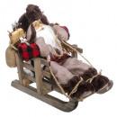 wholesale Shirts & Blouses: santa claus decoration 30cm s / sled
