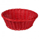 round polypropylene basket, 4- times assorted , mu