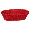 oval polypropylene basket, 4- times assorted , mul