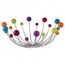 corbeille boules colors 37cm, multicolore
