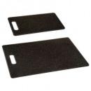 snijplank uit polypropyleen x2 steen, zwart