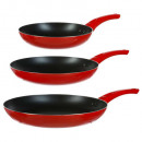 wholesale Burning Stoves: stove x3 aluminum non stick colors, 6- times assor