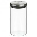 üveg üveg + rozsdamentes acél hermet 1l, ezüst