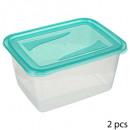 boite plastique 2x2l fresh&freeze, bleu