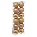 kerstbal 40mm x12 rosé goud