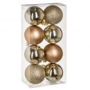 kerstbal 70 mm x 8 goud