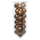 christmas bauble 30mm x18 bronze, brown