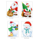 stickers traditional santa claus / christmas ball