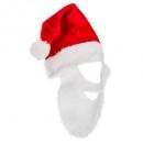sombrero adulto santa claus + barba