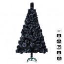 artificial tree glitter black 180cm