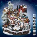 Weihnachten Dorf Haus + Schlitten lm ms
