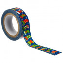 wholesale Shipping Material & Accessories: deco adhesive tape 10mx1.5cm, 6- times assorted