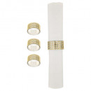 wholesale Household Goods: plate rhinestone towel ring x4