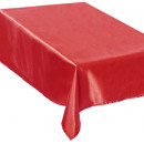red satin tablecloth 140x360