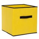 boite rangement 31x31 jaune eg, jaune