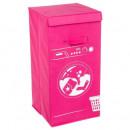 Großhandel Wäsche: Wäschekorbmaschine pink, pink