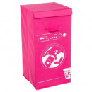 máquina de cesto de ropa rosa, rosa