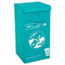 laundry basket machine blue