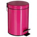 poubelle metal 3l fushia, rose foncé