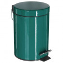 metalen afvalbak 3l smaragdgroen, donkergroen