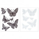butterfly relief sticker 30x40, 2- times assorted