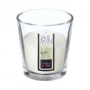 bougie parfumées verre jasmin nina 90g, ivoire