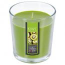 geurkaars glas kiwi nina 90g, groen