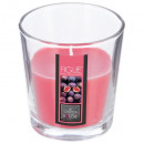 scented candle fig glass nina 90g, red