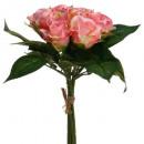 boeket 9 roze rozen h24, roze