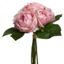 boeket 9 oude rozen h30, medium roze