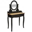 1 fiókos fésülködőasztal chrysa, fekete