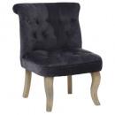 fauteuil en velours g td calixte mm, gris