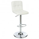 stool bar pu white delek, white